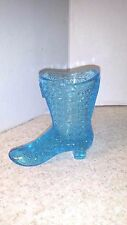 FENTON GLASS SHOE  AQUA BLUE HI TOP SHOE