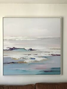 VALERIA MRAVYAN, JOHN LEWIS HUGE SEASCAPE ART PRINT FRAMED CANVAS