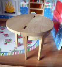 Rare Tynietoy Tynie Toy Unpainted Gate Leg Games Table Dollhouse Miniature