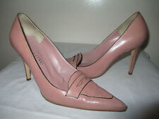 Valentino GARAVANI Point-Toe Nude Leather Heel Shoes  38.5