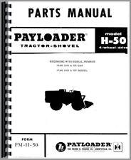 Hough H 50 Pay Loader Parts Manual Catalog Chassis