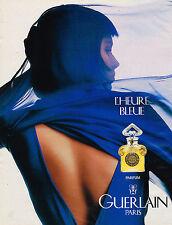 PUBLICITE ADVERTISING 114  1992  GUERLAIN  parfum HEURE BLEUE