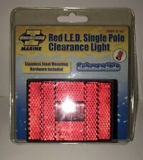 Invincible Marine Red LED Single Pole Clearance Light, Submersible Br59313 New