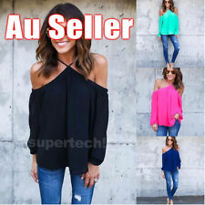 Off-Shoulder Sleeve Unbranded Machine Washable Solid Tops & Blouses for Women