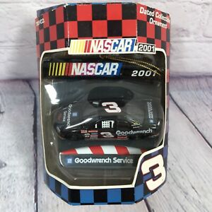 2001 Dale Earnhardt Collectible Christmas Ornament Nascar Goodwrench #3 Car