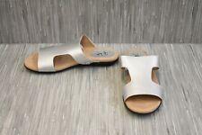**LifeStride Baha Slide Sandals - Women's Size 10W, Silver - NEW