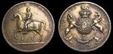 Great Britain Orange Association Silver Medal 1690 William III by W. Mossop EF