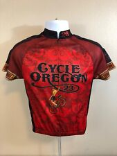 #23 Cycle Oregon Cycling Jersey Mens Small Red and Black