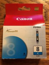 Genuine Canon 8 CLI-8C Pixma Chromalife 100 Printer Ink New !