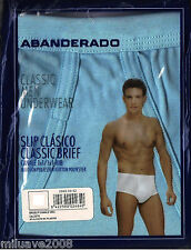 SLIP BRASLIP CLASICO CON BRAGUETA ABANDERADO ALGODON-POLIESTER T. 48 AZUL