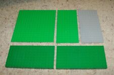 "Lego Green Gray, Flat Pieces Baseplate 16 x 16, 16 X 8, 5"" x 5"", 2.5"" Base Plate"