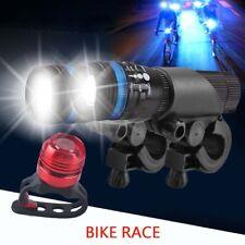 2X CREE Q5 LED Mountain Bike Zoomable Head Front Lights SET +  Rear Light RF