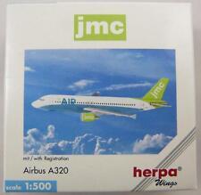 NEW HERPA WINGS 501736 JMC AIRLINES AIRBUS A320 W/ REG. 1:500 SCALE MODEL NIB
