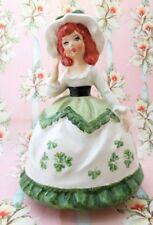 Lefton St. Patrick's Irish Girl Music Box figure. Irish lullaby. Valentine Gift