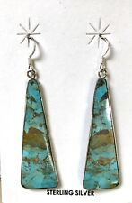 Santo Domingo Turquoise Sterling Silver Earrings - Veronica Tortalita
