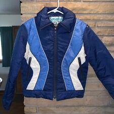 Vintage White Stag Expertise Retro Ski Winter Puffer Down Jacket Coat 10 Medium