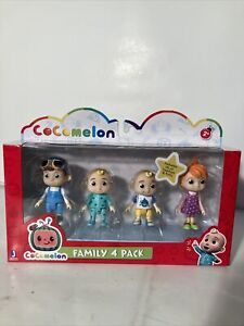 New Cocomelon Family 4 Pack Friends JJ TomTom YoYo Figure Play Set Toy Kids