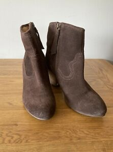 FatFace Brown Suede Ankle Boots Size 6