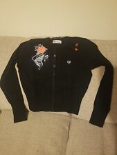 Fred Perry Amy Winehouse fred Cardigan Black BNWT UK Size 12