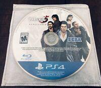 Yakuza 5 Remastered PS4 Playstation 4 Video Game DISC ONLY SEGA US Version