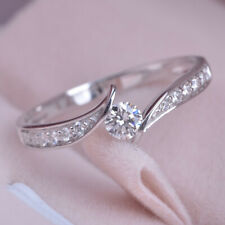 Gorgeous 925 Silver Ring Women White Sapphire Wedding Jewelry Rings Gift Sz 6-10