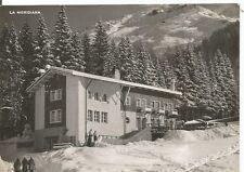 160657 SONDRIO MADESIMO - LA MERIDIANA - NEVE Cartolina FOTOGRAFICA viagg. 1951