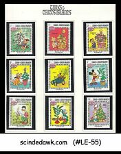 TURKS & CAICOS - 1983 CHRISTMAS / DISNEY ANIMATION 9V MNH