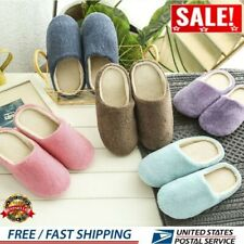 Women Men Home Anti-slip Shoes Soft Warm Cotton Sandal House 1 pair of Slippers