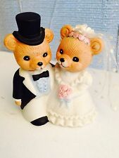 Homco Home Interiors #1424 Bear Bride & Groom Figurine