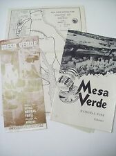 MAP AND GUIDE TO MESA VERDE SCENIC NAVAJO TRAIL THRU THE ROCKIES 1955 LOT OF 3