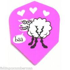 2 SETS OF SHEEP IN LOVE DART FLIGHTS