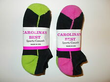 Carolina's Best Made In USA Womens Lo-Cut Socks Shoe Size 6-10 Six Pairs Colors