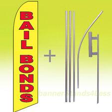 Bail Bonds Swooper Flag Kit Feather Flutter Banner Sign 15' Tall - yb