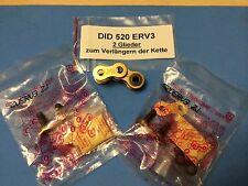 2 Glieder DID 520 ERV3, inkl. 2 Nietschlössser zum Verlängern der Kette, racing