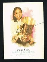Wendy Guey #306 signed autograph auto 2006 Topps Allen & Ginter's Card