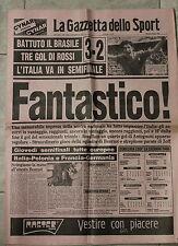 [J1] GAZZETTA DELLO SPORT 6/07/1982 MONDIALI ITALIA IN SEMIFINALE