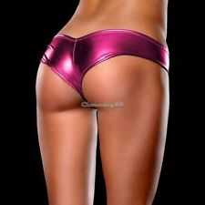 Sexy METALLIC Shorts Panties Thong Hot Pink Magaluf Ibiza Club Buy Now UK STOCK