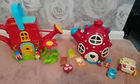 Happyland Bundle Watering Can & Teapot Mouse House Playset Figures Accessories