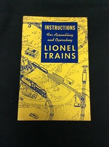 1948 LIONEL Instructions for Assembling and Operating LIONEL TRAINS -