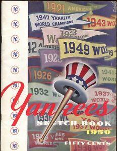 1950 1st New York Yankees Yearbook VGEX/EX