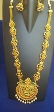 Indian Jewelry Necklace Set Ethnic Gold Plated Traditional Laxmi Haar Temple Set