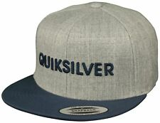 Quiksilver Top Shelfer Snapback Hat (Heather Gray/Indigo)