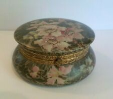 Victorian Wavecrest Floral Pattern Antique Dresser Jewelry Box Cf Monroe & Co. Antiques Pottery & Glass
