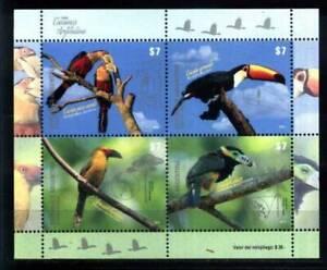 2015 FAUNA BIRDS TUOCAN ARGENTINA BLOCK MNH