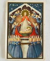 Vintage Dutch Religious Christmas Postcard by Leanne Duchene - Nativity, Angels