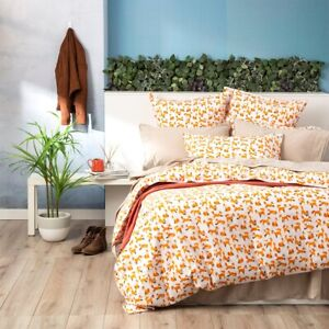 European Vintage Washed Printed Cotton Quilt cover set Fox