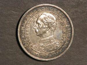 DENMARK 1906 2 Kroner Accession Frederick VIII Silver UNC