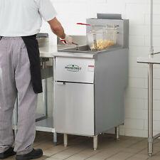 New 40 Lb Liquid Propane Commercial Restaurant Stainless Steel Floor Deep Fryer