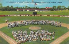 Linen Postcard Little League Baseball at Grant Field in Dunedin, Florida~125273