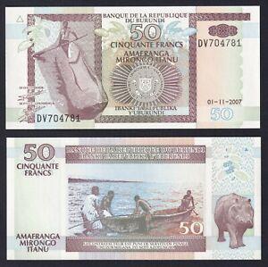 Burundi 50 francs 2007 FDS/UNC  A-06